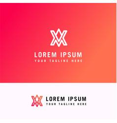 a v minimal letter logo concept line logo design vector image