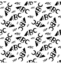 ABC letters seamless pattern Creative design in vector