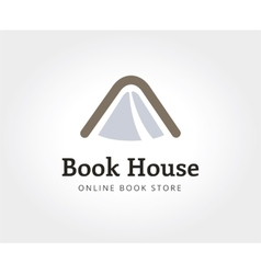 Abstract book house logo template for branding and vector