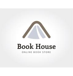 Abstract book house logo template for branding vector