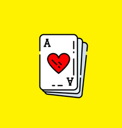ace hearts card icon vector image