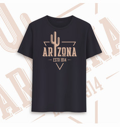 Arizona state graphic t-shirt design typography vector