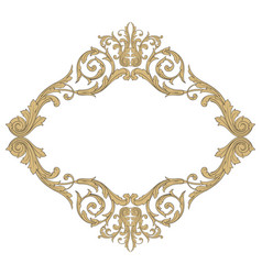 Baroque ornament decoration element vector