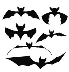 Bats Black Silhouettes vector