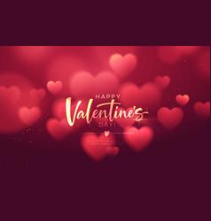 Bokeh blurred heart shape shiny luxurious vector