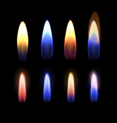 Burning flame gas zinc vector