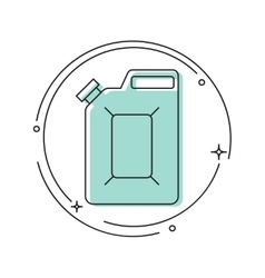 Canister under the petrol vector image