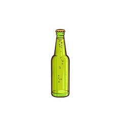 Cartoon beer glass bottle mochup vector