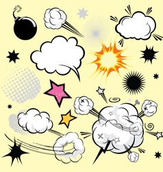 Cartoon comical actions vector image