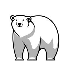 Cartoon polar bear vector
