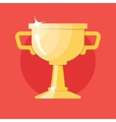 Champions gold cup Icon vector image