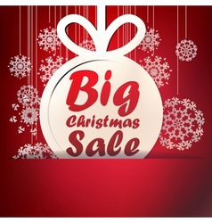 Christmas Big Sale template EPS10 vector image