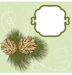 christmas hand drawn fur tree for xmas design vector image