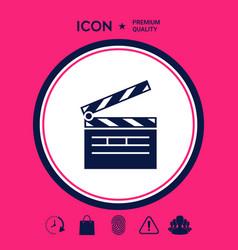 clapperboard icon symbol vector image