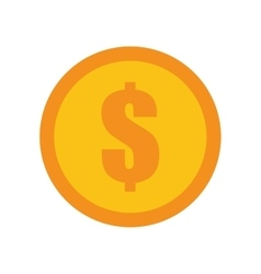 Coin dollar money currency icon vector