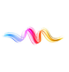 Colorful flow brush stroke ribbon isolated line vector