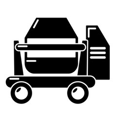 Concrete mixer icon simple black style vector