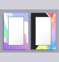 creative vertical frames with colorful stains set vector image