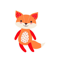 Cute soft fox pup plush toy stuffed cartoon vector