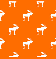 deer pattern seamless vector image