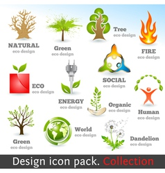 Design 3d color icon set vector image