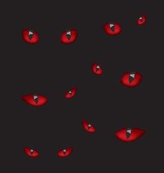 Devil eyes in the dark vector