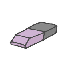 doodle color eraser isolated vector image