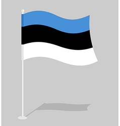 Estonia flag Official national symbol of Estonian vector image