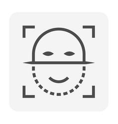 Face scan icon vector