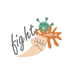 Fight covid19 19 prevention and protection vector