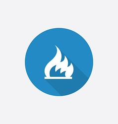 Fire Flat Blue Simple Icon with long shadow vector