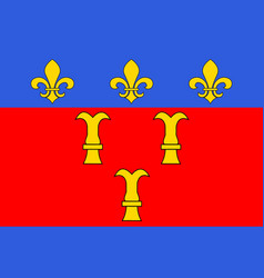 Flag of tulle in correze of nouvelle-aquitaine is vector