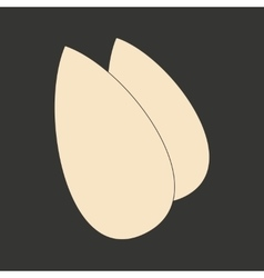 Flat in black and white mobile application almonds vector