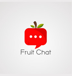 fruit chat logo icon element and template vector image