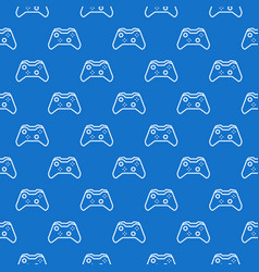 gamepad blue pattern controller seamless vector image