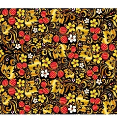 Gold and red colors seamless pattern vector image