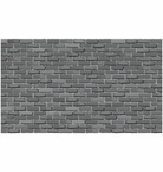 Gray brick wall vector