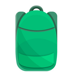 green modern backpack icon cartoon style vector image