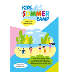 kids summer camp holidays vector image