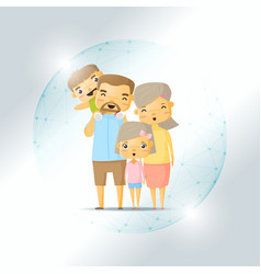 Life insurance concept with happy family vector