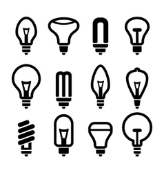 Light bulbs Bulb icon set 2 vector