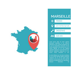 marseille map infographic vector image