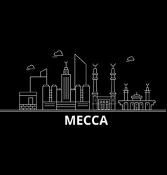 Mecca silhouette skyline saudi arabia - mecca vector