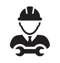 Mechanic worker icon male construction service vector