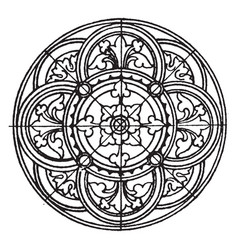Medieval circular panel is found on a vector