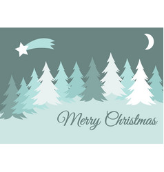 merry christmas winter landscape with snow vector image