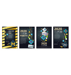 new year party banners 2020 year eve invitation vector image
