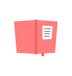 Pink book diary icon vector