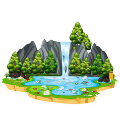 pollution in isolated nature landscape vector image