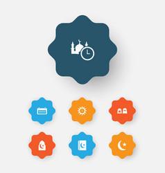 ramadan icons set collection of ramadan kareem vector image